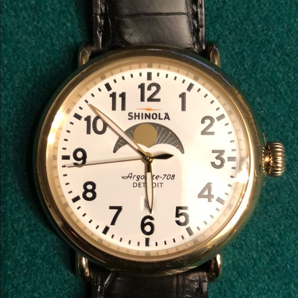 a45676592 Shinola Accessories | Mens Watch White Face With Date | Poshmark
